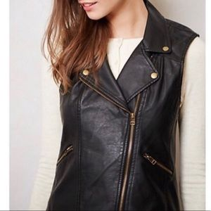 SANCTUARY Black Faux Leather Moro Vest